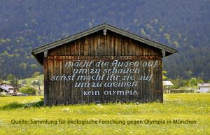 09-2013: Bayern bangt vor den Folgen einer Bewerbung für München 2022. Foto: Sammlung für ökol. Forschg.